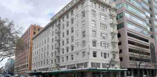 Capitol Park Hotel crane rental