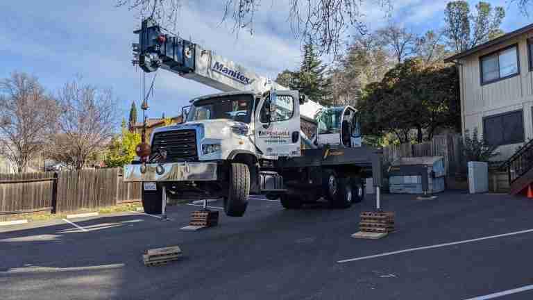 ground stabilization for crane