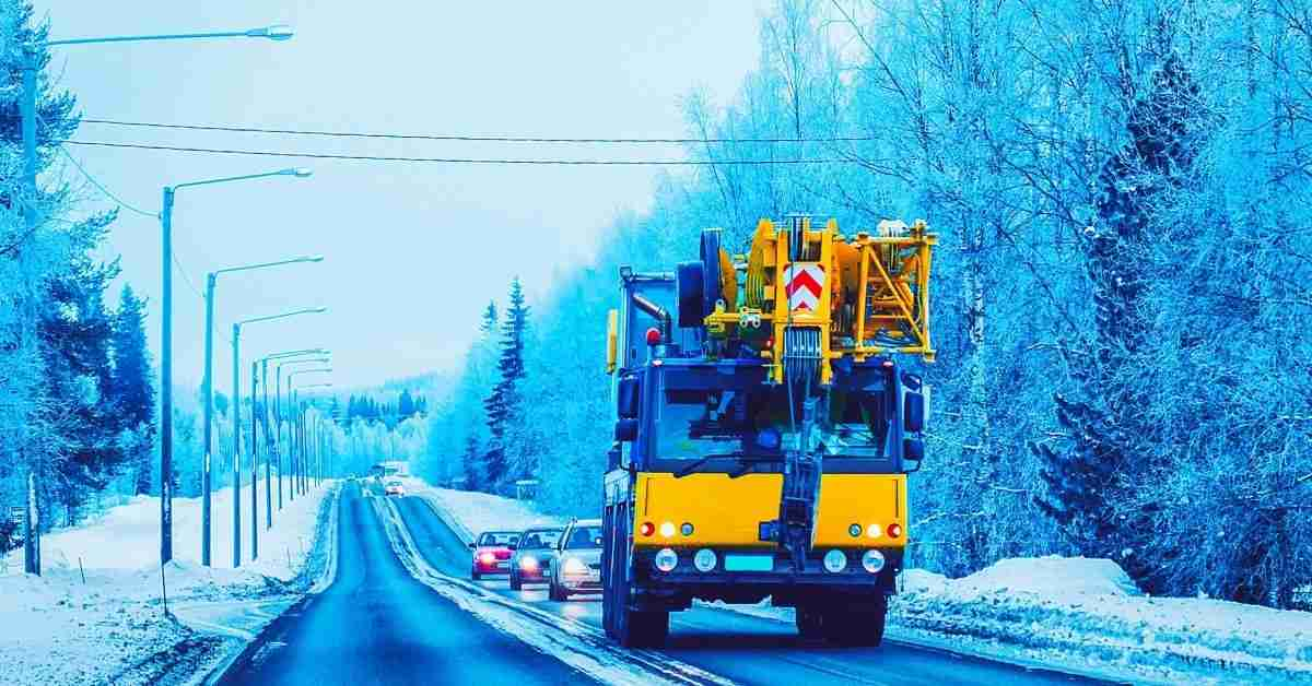 Crane rental Service in Cold Weather